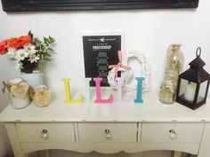 Lilli hand painted letters