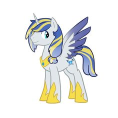 Valiant Heart is the son of Cadence and Shining Armour. He was born as a unicorn but earn't his wings when he found out the true meaning of love. He is also Captain of the Royal Guard. Check out the maker http://kilala97.deviantart.com/