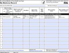 Medicine record chart