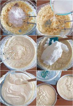Preparación de la mezcla para la torta de vainilla Un Cake, Poke Cakes, Cooking Recipes, Healthy Recipes, Americas Test Kitchen, Blueberry, Icing, Cake Recipes, Food And Drink