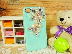 iphone 4 case, iphone 4s case, green iphone 4 case, bling iphone case 4