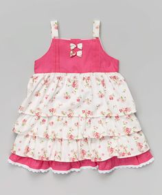 Look what I found on #zulily! Pink Floral Ruffle Dress - Infant, Toddler & Girls #zulilyfinds