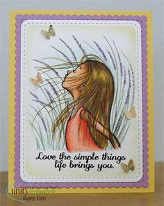 Head Up Heart Strong by Phyllis Harris for Unity Stamp Co Card by Kary Lim