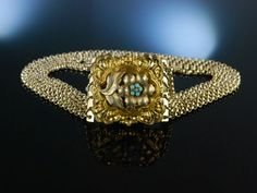 Antique Bavarian Necklace! Münchner Biedermeier! Historische Kropf Kette Silber vergoldet Schaumgold um 1840 zu Tracht und Dirndl, traditioneller Trachtenschmuck bei Die Halsbandaffaire