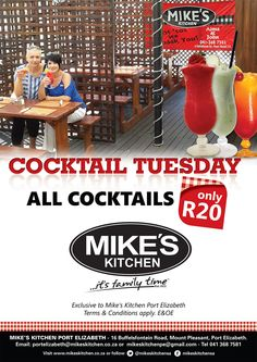 Mike's Kitchen Port Elizabeth Cocktais Port Elizabeth, Mount Pleasant, Conditioner, How To Apply, Kitchen, Cucina, Cooking, Kitchens, Stove