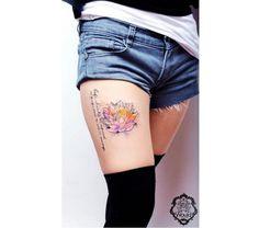 Tatuaż kwiat lotosu - wzory modne i kobiece, na różne części ciała - Strona 30
