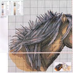 Horses 1/2 Cross Stitch Patterns free