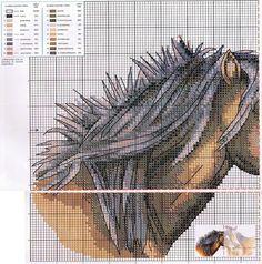 Horses 1/2 Cross Stitch Patterns free