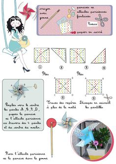 1000 images about moulins vent on pinterest pinwheels windmills and origami - Comment fabriquer un moulin a vent en papier ...