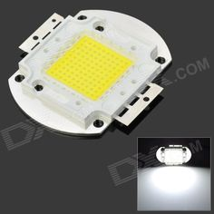 DIY 100W 10000lm 6500K White Light 100-LED Module - Silver (DC 32~34V). Material: Copper + Silicone + Resin - Color: Silver - Quantity: 1 - Emitter type: LED - Total emitters: 100 - Power: 100W - Color BIN: White - Rate voltage: 32~34V - Luminous flux: 9000~10000lm - Color temperature: 6000~6500K - Suitable for spotlights and street lamp light source - Great for DIY project - Packing list: - 1 x LED module. Tags: #Lights #Lighting #Bulbs #and #Strips #LED #Bulb #Parts #Leds