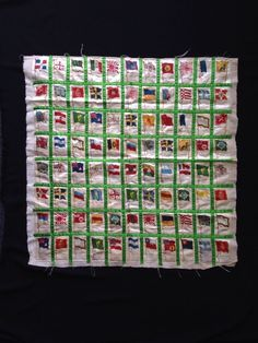 Antique Tobacco Cigarettes Silk Flags Nation Quilted Egyptienne Straight 88 #2