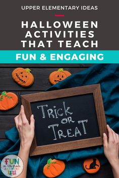Are you an upper elementary teacher looking for some activities to make Halloween still seem fun without the party? Check out this post for some ideas & activities that I do with my students to make sure that it is not a lost day. A lot of great academic activities that are fun and engaging to do on Halloween!