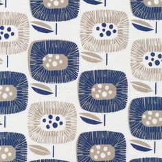 Block Blooms Navy from the Around the Block Collection by Skinny laMinx for Fabrics. - organic cotton canvas oz) - wide - OCS certified organic - Printed with low impact dyes - Made in Pakistan Yardage is cut continuously. Canvas Fabric, Cotton Canvas, Fabric Patterns, Print Patterns, Pattern Designs, Floral Patterns, Sewing Patterns, Textile Design, Fabric Design