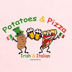 potatoes and pizza. For my lil McMeatballs. It should read pasta and potatoes, rather than pizza...just saying....