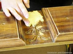 Fill in carvings on old furniture and then paint over it. Pick up those great finds at yard sales and redo them!