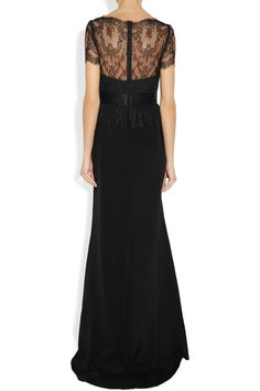 Notte by Marchesa Lace and silk-satin gown NET-A-PORTER.COM
