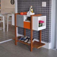 Aparador Hilda com a gaveta laranja. #studiovidadesign#design#mobiliario#furniture#aparador#sideboard#decor#interiors#home#ideas#funcionalidade