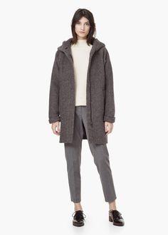 Wollen jas met capuchon 79,99€ | MANGO