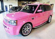 Normally, I would never drive a foreign car, but I would have to cave if someone offered me this pink Range Rover.