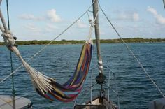 Must put a hammock on the boat for star gazing and frivolous novels; this one is a Columbian/Kuna Hammock on s/v Winterlude, via Commuter Cruiser