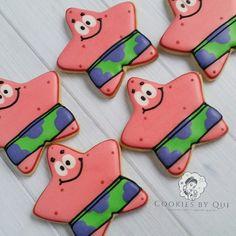 Patrick Star Spongebob Squarepants Themed Birthday Party Cookies - Cookies by Qui Geelong.jpg