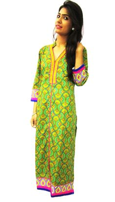 Long lenght straight printed cotton kurti (Offer Price: Rs 499 , Offered Discount: 29%) ** BUY NOW ** [MRP: Rs 699]