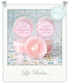 Hand Made Sparkly Strawberry Lip Balm  •  Free tutorial with pictures on how to make a lip balm in under 30 minutes