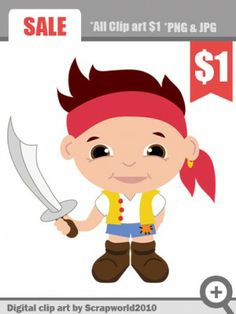 Pirate little boy clip art for kids sale 3