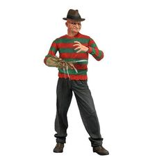 Nightmare on Elm Street Powerglove Freddy Action Figure - One, two, Freddy's coming for you... Don't miss out on this fantastic action figure, directly out of the Freddy's Dead: The Final Nightmare movie! This Nightmare on Elm Street Powerglove Freddy Action Figure features the horror film franchise antagonist with full articulation and wearing his Powerglove. Measuring 7-inches tall, this fantastic action figure of Freddy Krueger is a must-have for fans of the A Nightmare on Elm Street…
