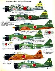 Mitsubishi Zero-Sen Page Navy Aircraft, Ww2 Aircraft, Fighter Aircraft, Military Aircraft, Fighter Jets, Imperial Japanese Navy, Ww2 Planes, Military Weapons, Model Airplanes