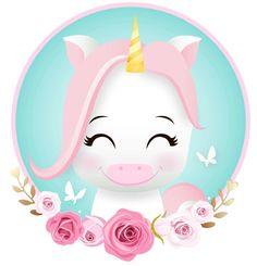 Baby Unicorn, Unicorn Art, Cute Unicorn, Unicorn Wallpaper Cute, Belly Painting, Cute Cartoon Wallpapers, Kawaii Drawings, Unicorn Birthday Parties, Nursery Art