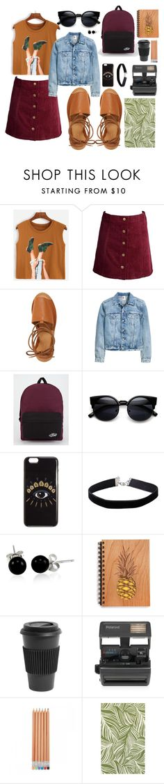 """""""Autumn begins"""" by ukelouiza ❤ liked on Polyvore featuring Topshop, Vans, Kenzo, Miss Selfridge, Bling Jewelry, Homage, Impossible and Oriental Weavers"""