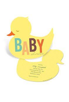 Baby shower invites: Duckling.