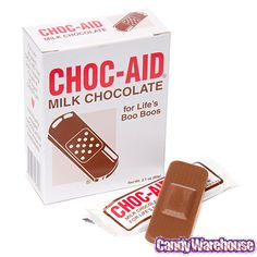 Chocolate First Aid Bandages 5-Packs: 6CT Box