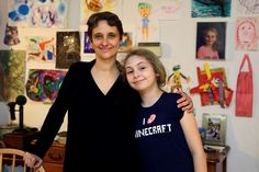 In this Thursday, April 16, 2015 photo, Meredith Barber poses with her daughter Gabrielle Schwager, 10, at their home in Penn Valley, Pa. Barber, a psychologist from the Philadelphia suburb of Penn Valley, has decided Gabrielle will not be taking the Pennsylvania System of School Assessment this year and has been encouraging other parents to opt out.