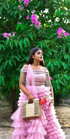Pink Lehenga With Ruffles Mehendi Outfits, Pink Lehenga, Bride Sister, Bride Groom, Ruffles, Brides, Tulle, Photo And Video, Wedding Dresses
