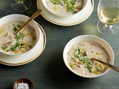 Cream of Wild Mushroom Soup recipe from Ina Garten via Food Network