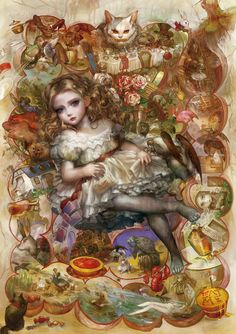 Alice by tomape. #Alice #Wonderland #victorian #Art #gosstudio .★ We recommend Gift Shop: http://www.zazzle.com/vintagestylestudio ★