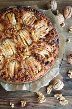 Apfelkuchen mit Walnusskruste