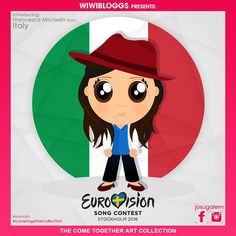 She won #xfactoritalia and now she is poised to make an impact at #eurovision2016. She had a beautiful song and spirit. She is Italy's @francesca_michielin! See more of our #Eurovision cartoons at #cometogethercollection. Art by @josugalem
