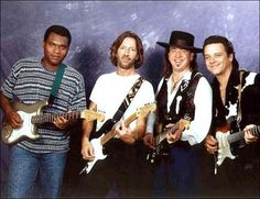 Robert Cray, Eric Clapton, Stevie Ray Vaughan, and Jimmie Vaughan