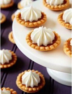 Mini Pumpkin Pies! 20 Adorable Mini Versions of Your Favorite Fall Desserts.