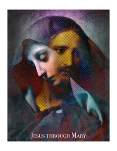 Jesus Through Mary Poster by SeattletownStore on Etsy
