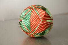 Temari Ball Silk embroidery Christmas Ball от EmbroideryTemari