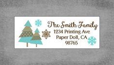Christmas Return Address Labels Christmas by PaperDollPrinting, $8.00