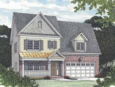 Cottage House Plan with 2510 Square Feet and 4 Bedrooms(s) from Dream Home Source | House Plan Code DHSW65489