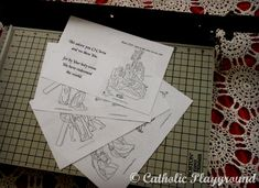 Little Stations of the Cross Catholic Coloring printable booklet