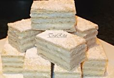 Lemon slices TraRita the kitchen Hungarian Cake, Hungarian Recipes, Cake Bars, Lemon Slice, My Recipes, Drink Recipes, Feta, Sweets, Cheese