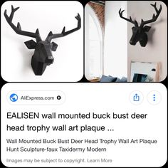 Modern Cabin Interior, Faux Taxidermy, Cabin Interiors, Wall Mount, Sculpture, Wall Art, Home Decor, Sculpting, Decoration Home