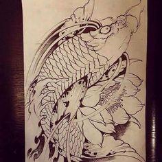 Carp Tattoo, Koi Fish Tattoo, Chinese Writing Tattoos, Japanese Tattoo Designs, Tattoo Japanese, Koi Tattoo Design, Koi Fish Designs, Asian Tattoos, Japan Tattoo